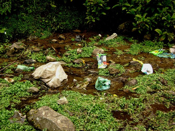Plastic in the mountains