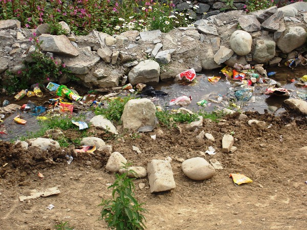 Plastic waste in Gulmarg