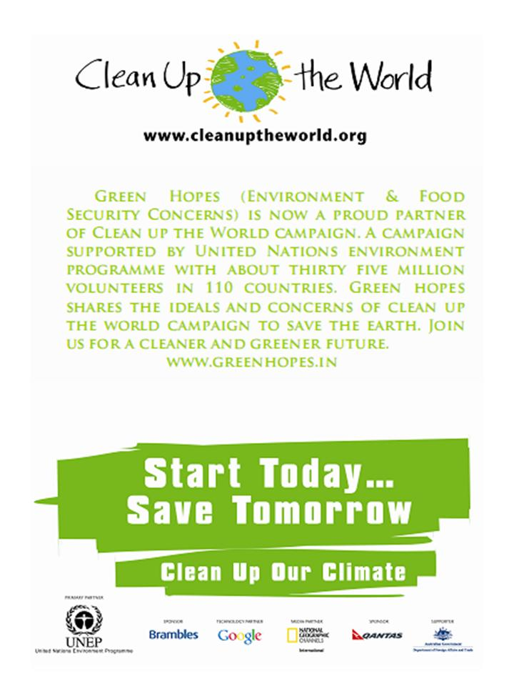 Clean Up the World-Green Hopes | Environment and Food Security ...